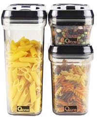 Oxone OX-301 Storage Jar Plastic - 3Pcs (Toples Snack)