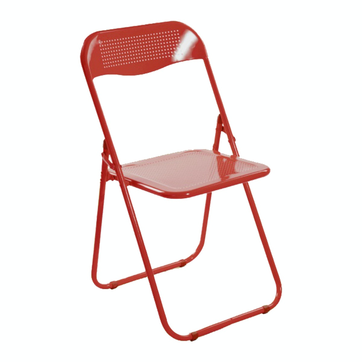 Herman Dexter Banno Metal Folding Chair-Red