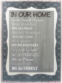 Hermosa Papan Quote 40x30 In Our Home