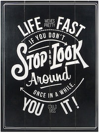 Hermosa Papan Quote 40x30 Stop & Look