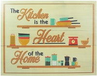 Hermosa Papan Quote 40x30 Kitchen Is The Heart