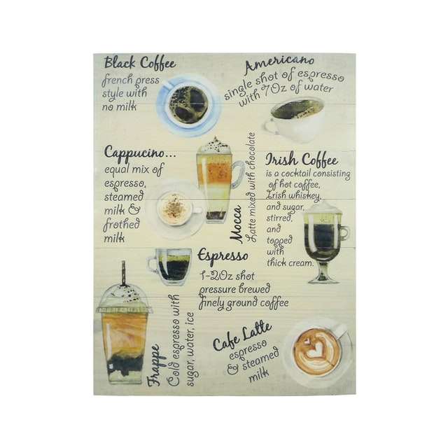 Hermosa Papan Quote 40x30 All Coffee