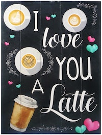 Hermosa Papan Quote 40x30  I Love You A
