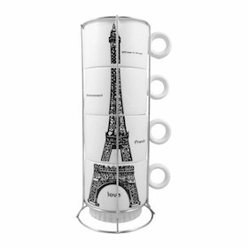 Hermosa Gelas Susun 4 / Mug Jar Paris