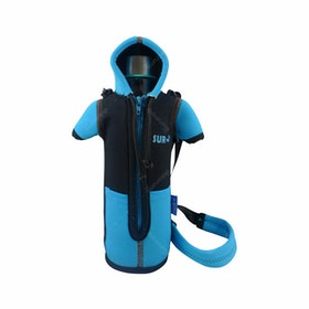 Hermosa Bottle Jacket+Bottle/Botol Minum dan Jaket Botol BPA Free Biru