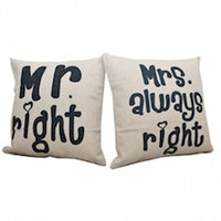 Hermosa Bantal Sofa 45X45 Couple Mr Right& Mrs Always Right