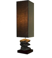 Hermosa Table Lamp/Lampu Meja Batu Alam Black
