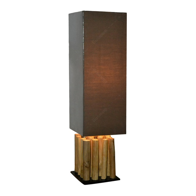 Hermosa Table Lamp/Lampu Meja Mia Shade Brown