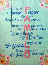 Hermosa Papan Quote 40x30 Family