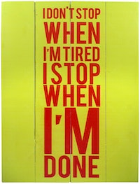 Hermosa Papan Quote40x30 I Don't Stop