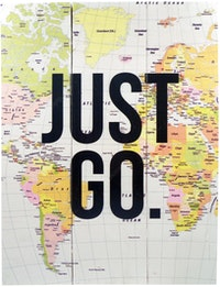 Hermosa Papan Quote 40x30 Just Go