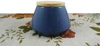 Hermosa Canister Terracotta Wood/Tempat penyimpanan Small (Blue)