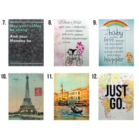Hermosa PROMO BUY 2 GET 1 FREE! WALL ART/Papan Quote 40X30 (Stock Clearance)