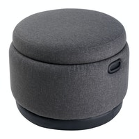 Hago Furniture Ottoman Storage Round Graphite