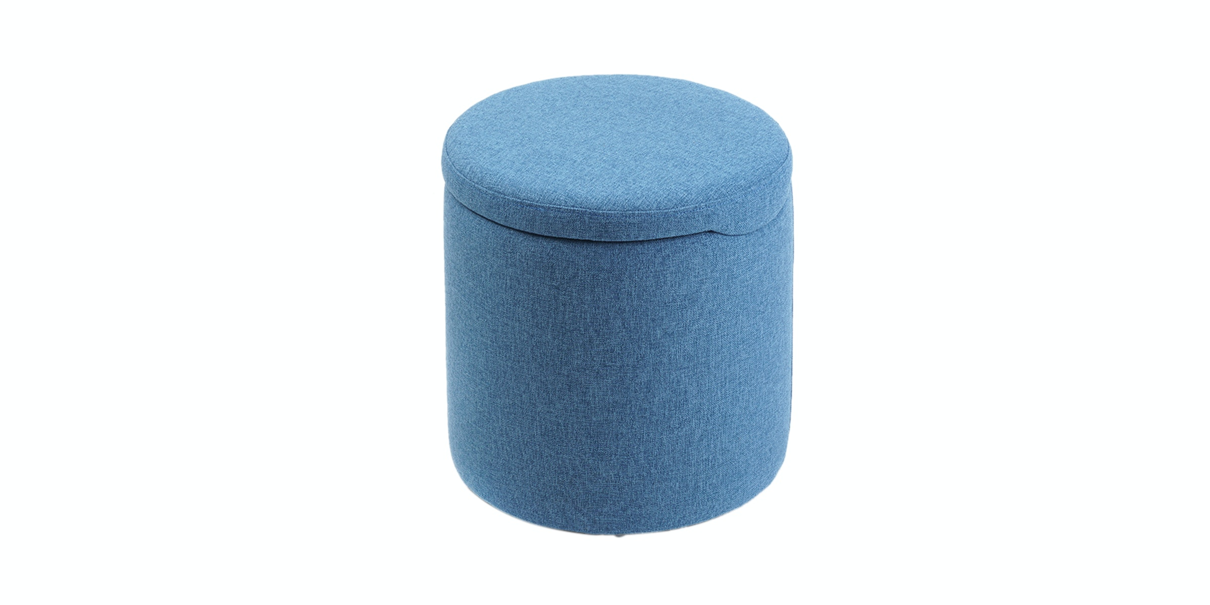 Hago Furniture Ottoman Storage Round Biru