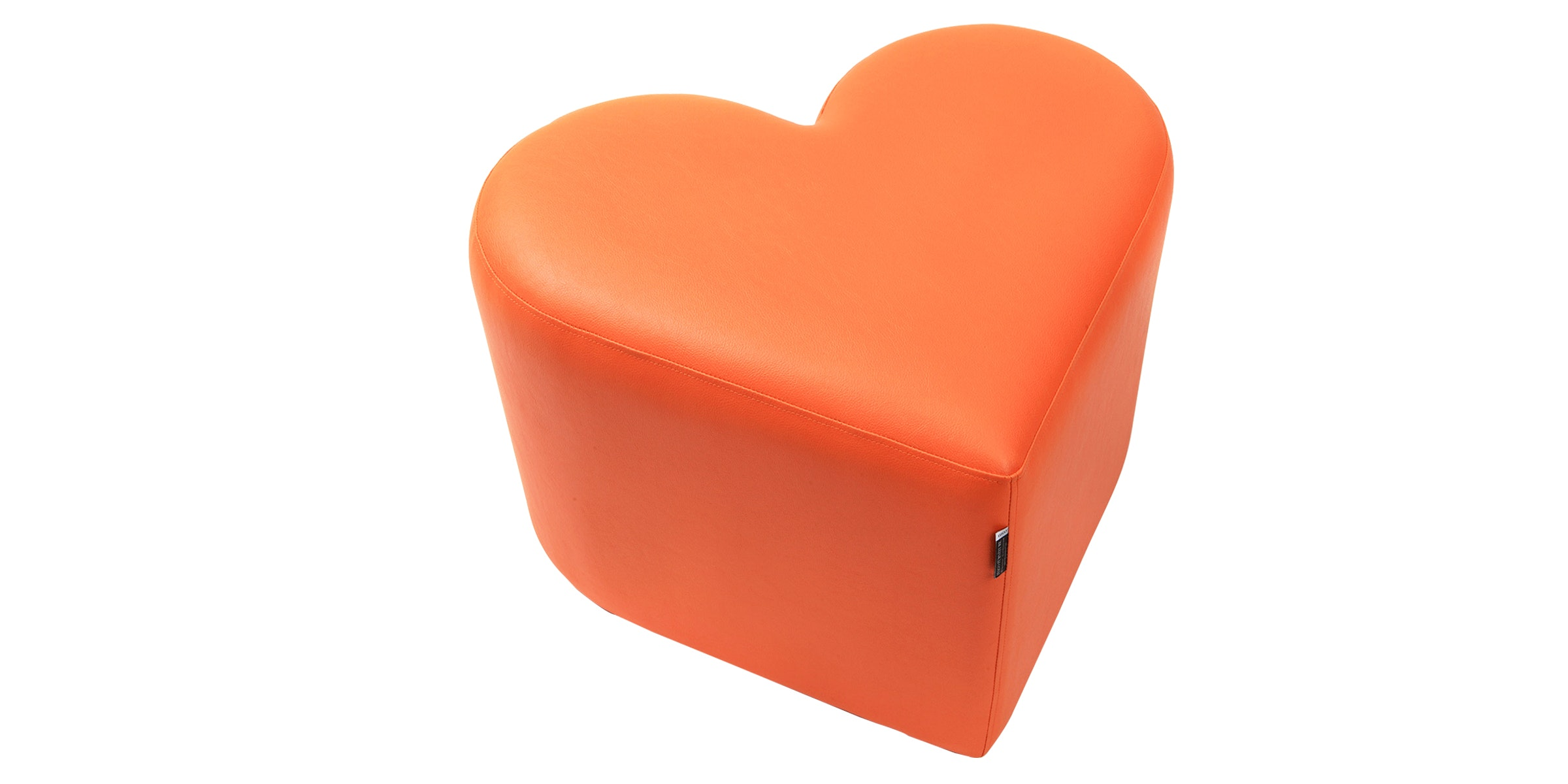 Hago Furniture Heart Unique Ottoman Oranye