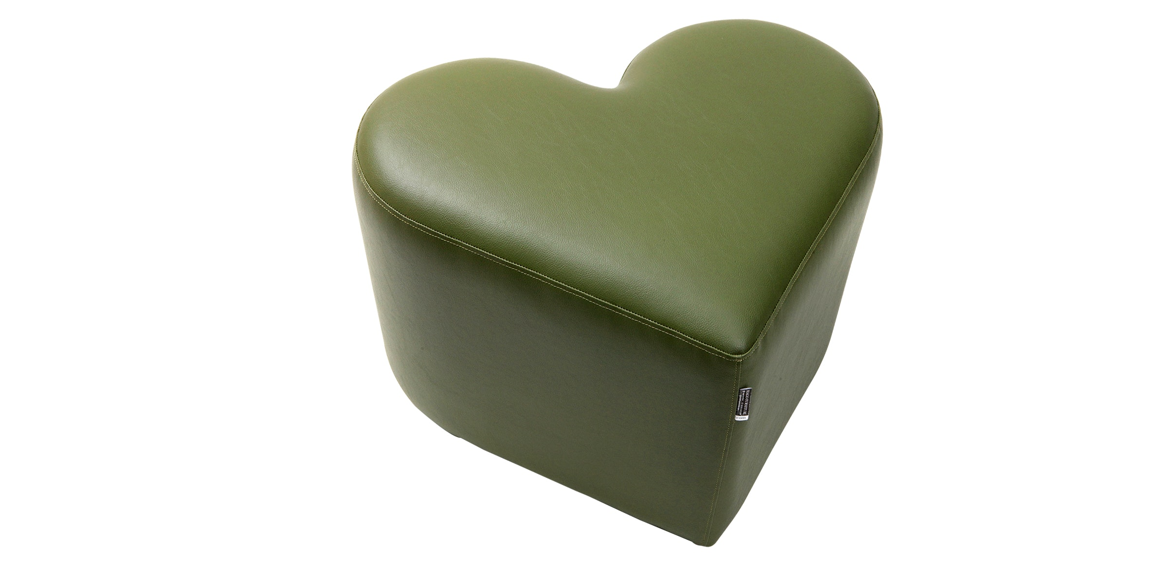 Hago Furniture Heart Unique Ottoman Hijau Tua