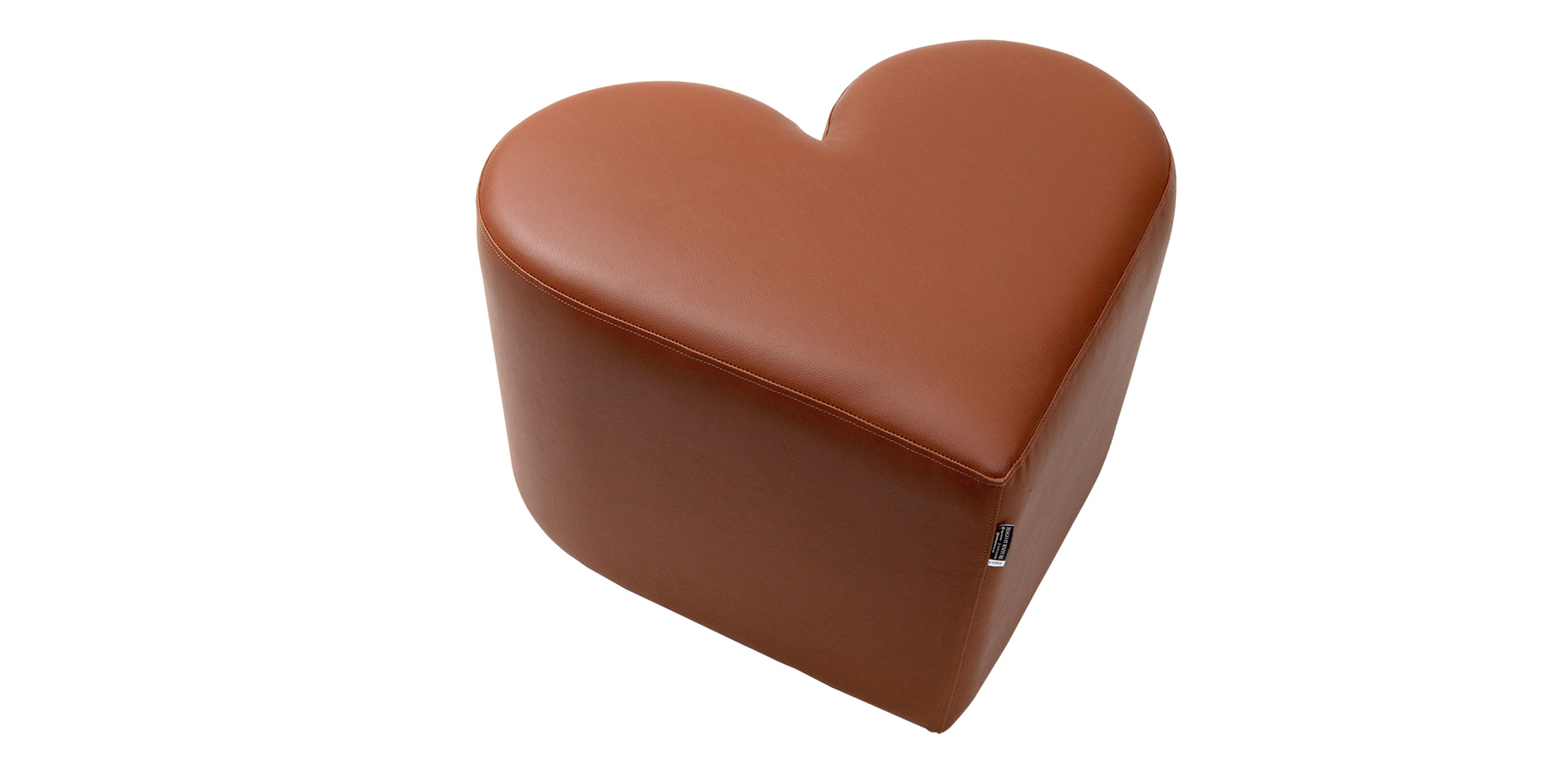 Hago Furniture Heart Unique Ottoman Cokelat Muda