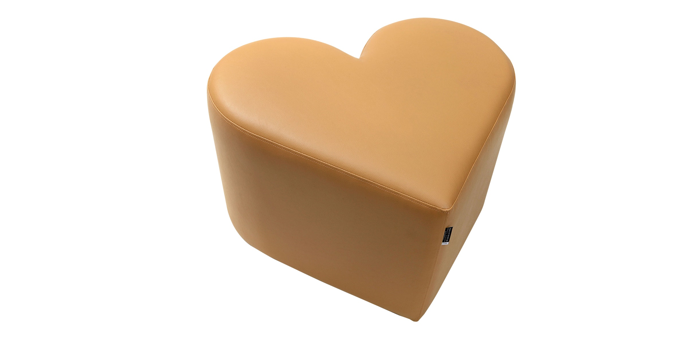 Hago Furniture Heart Unique Ottoman Cokelat Tua