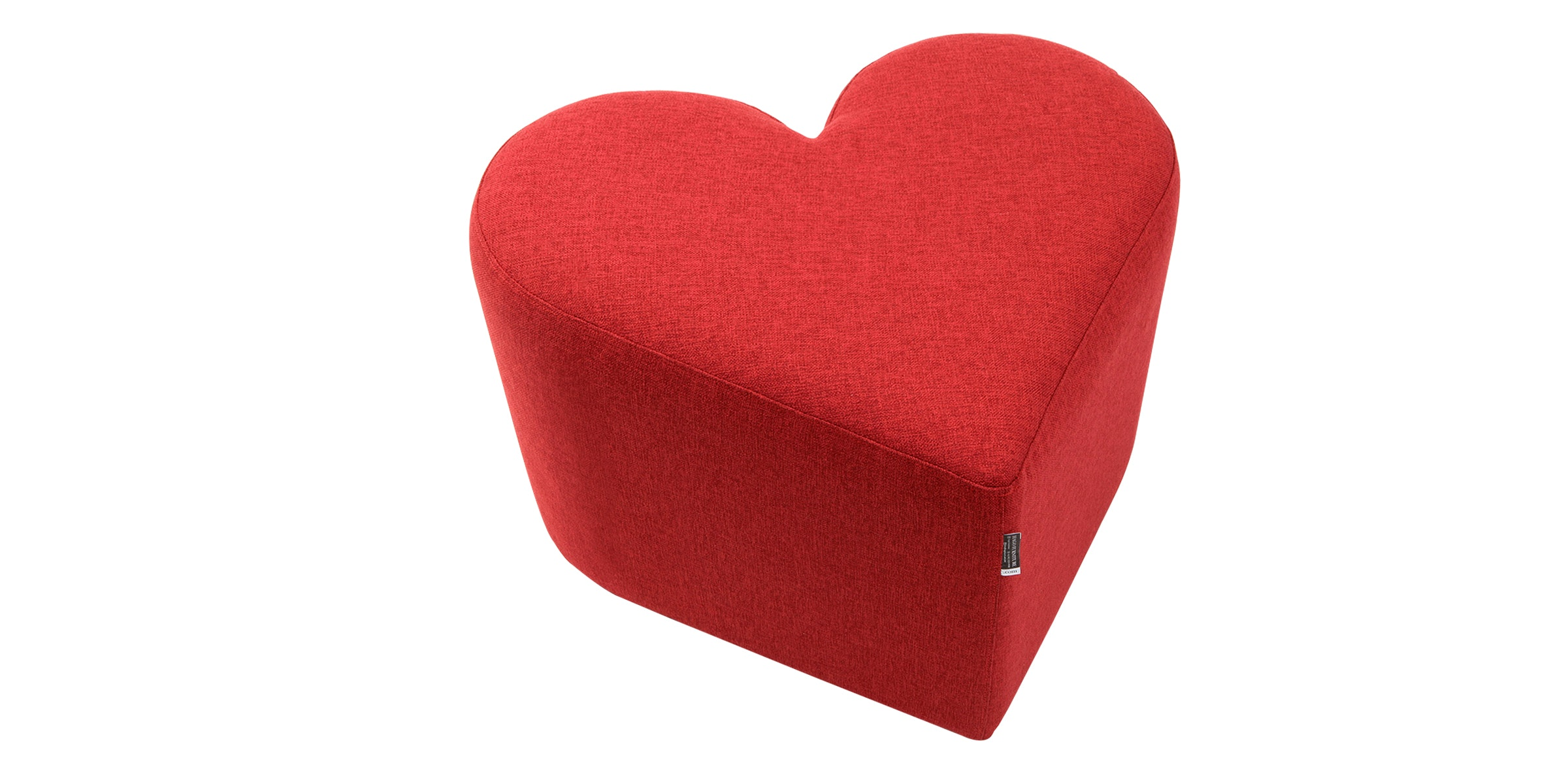 Hago Furniture Heart Unique Ottoman Merah