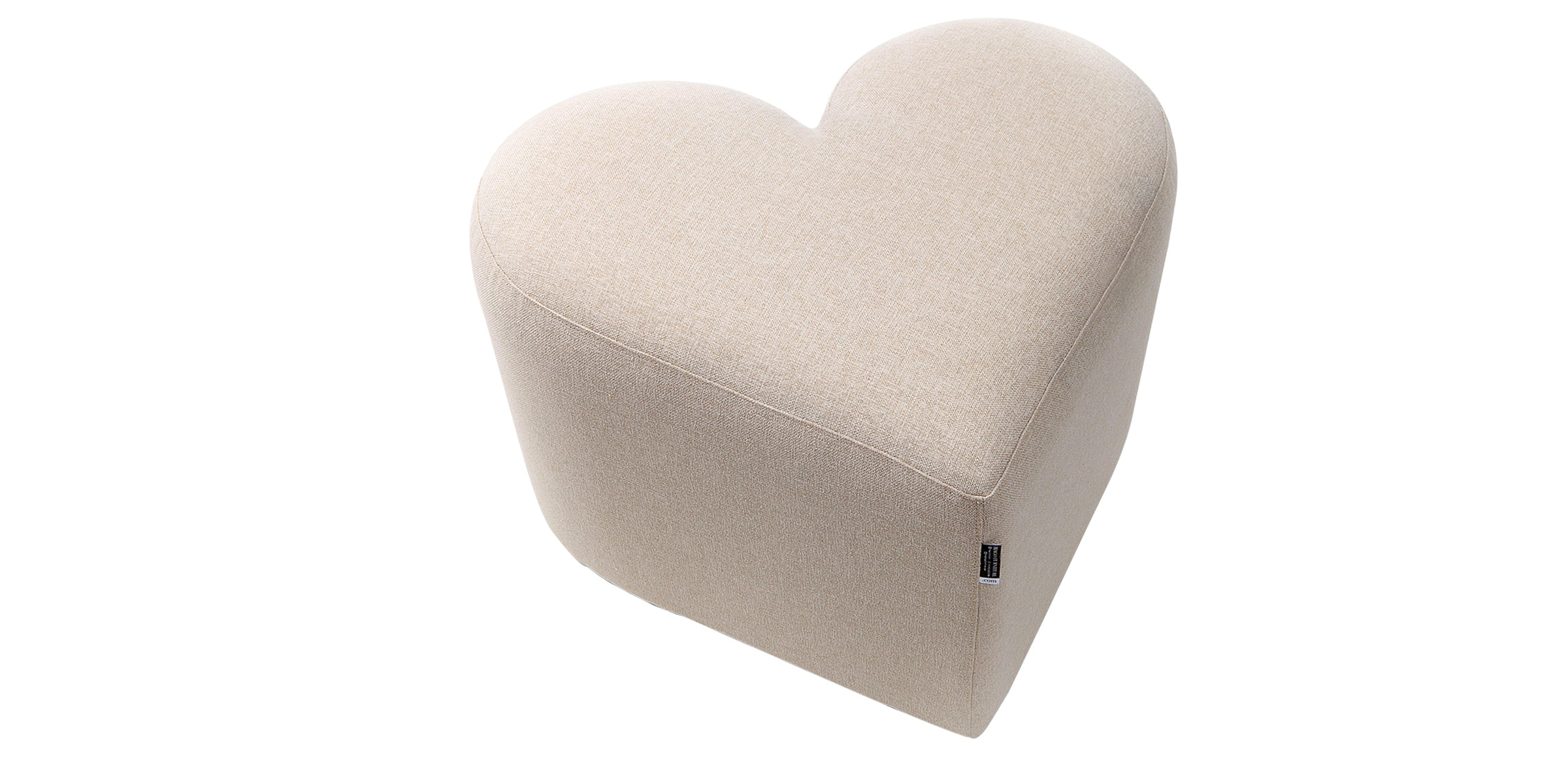 Hago Furniture Heart Unique Ottoman Krem