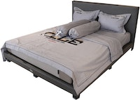 HIAS House Grey Sporting Bedcover Set King P046035 180x200cm