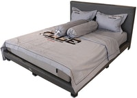 HIAS House Grey Sporting Bedcover Extra King Set P046036 200x200cm