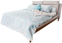 HIAS House Classic Blue Bedcover Set Queen P046016 160x200cm