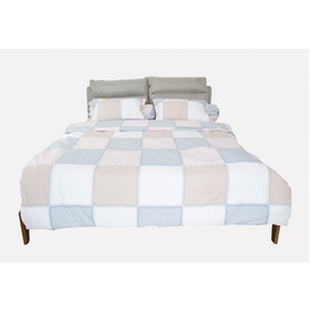 HIAS House Square Pastel Bedcover Set Queen P046040 160x200cm