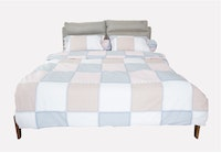 HIAS House Square Pastel Bedcover Set King P046041 180x200cm