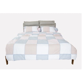 HIAS House Square Pastel Bedcover Set Extra King P046042 200x200cm