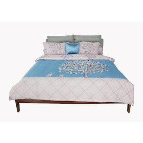 HIAS House Dreamy Tree Pastel Bedcover Set Queen P046019 160x200cm