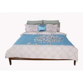 HIAS House Dreamy Tree Pastel Bedcover Set King P046020 180x200cm