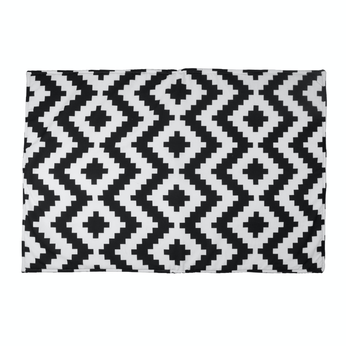 Hello Heyho Canvas Rug - Black Chevron