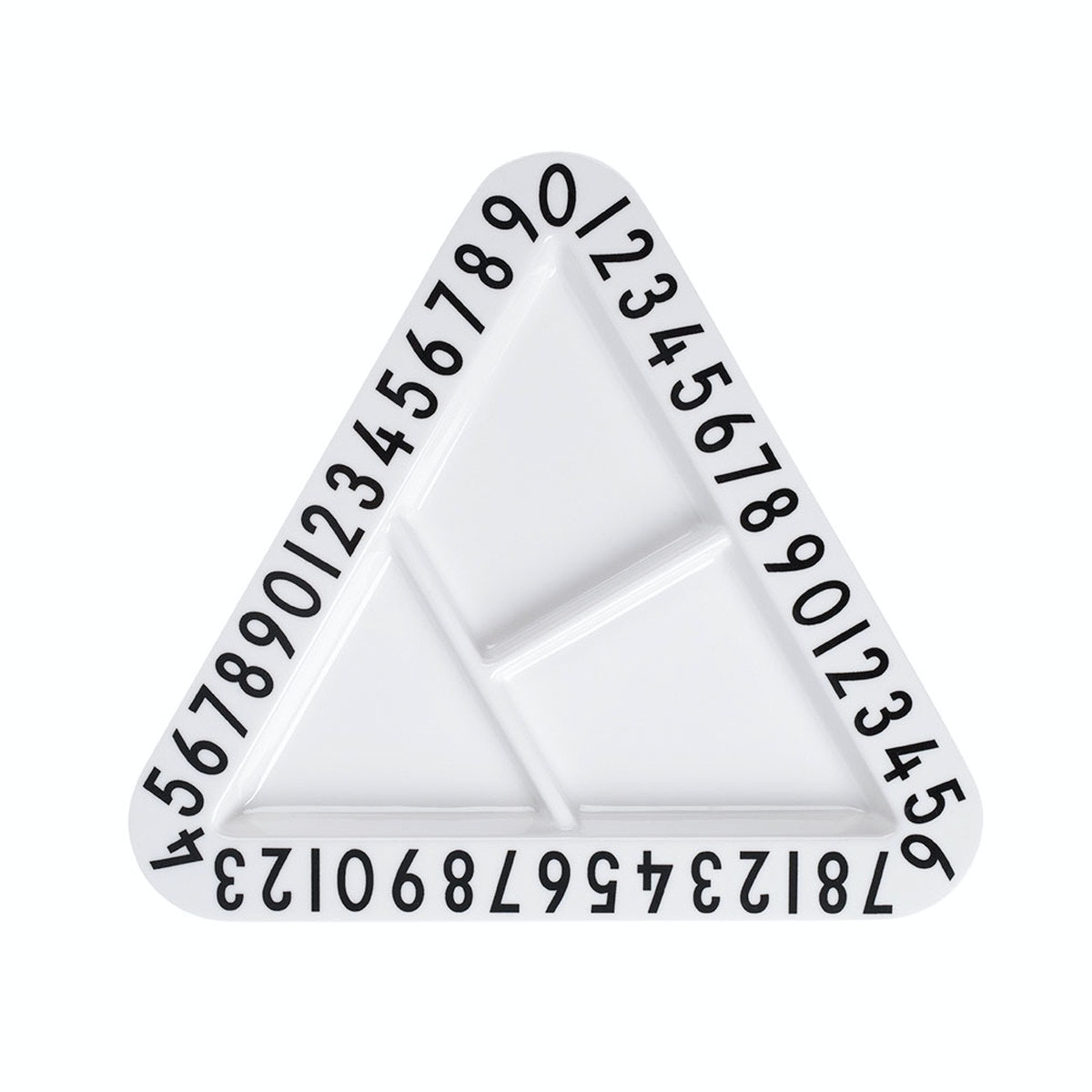 Hello Heyho Triangle Letters Plate