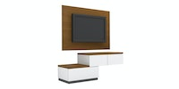 Case Furniture TV Cabinet with Wall Panel PCI003-02-WP1208 Rosewood - white