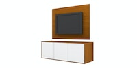 Case Furniture TV Cabinet with Wall Panel PCI004-03-WP1208 Rosewood - White