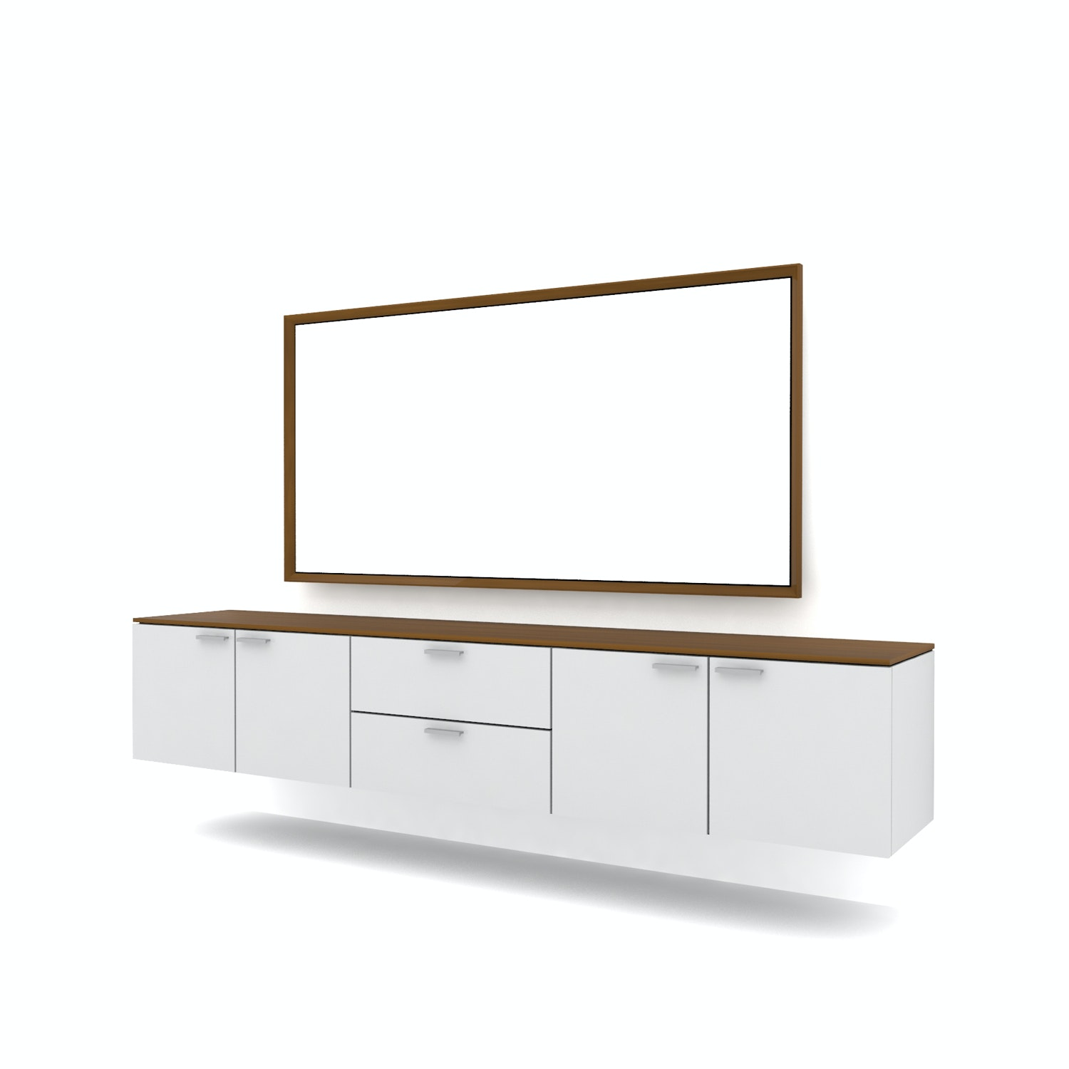 Case Furniture TV Cabinet with Wall Panel PCI004-05-MR1606 Desert Oak - Dark Grey