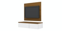 Case Furniture TV Cabinet with Wall Panel PCI005-02-WP1008 Rosewood - white
