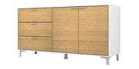 Case Furniture Cabinet Set PCI008-02-00 Desert Oak - White