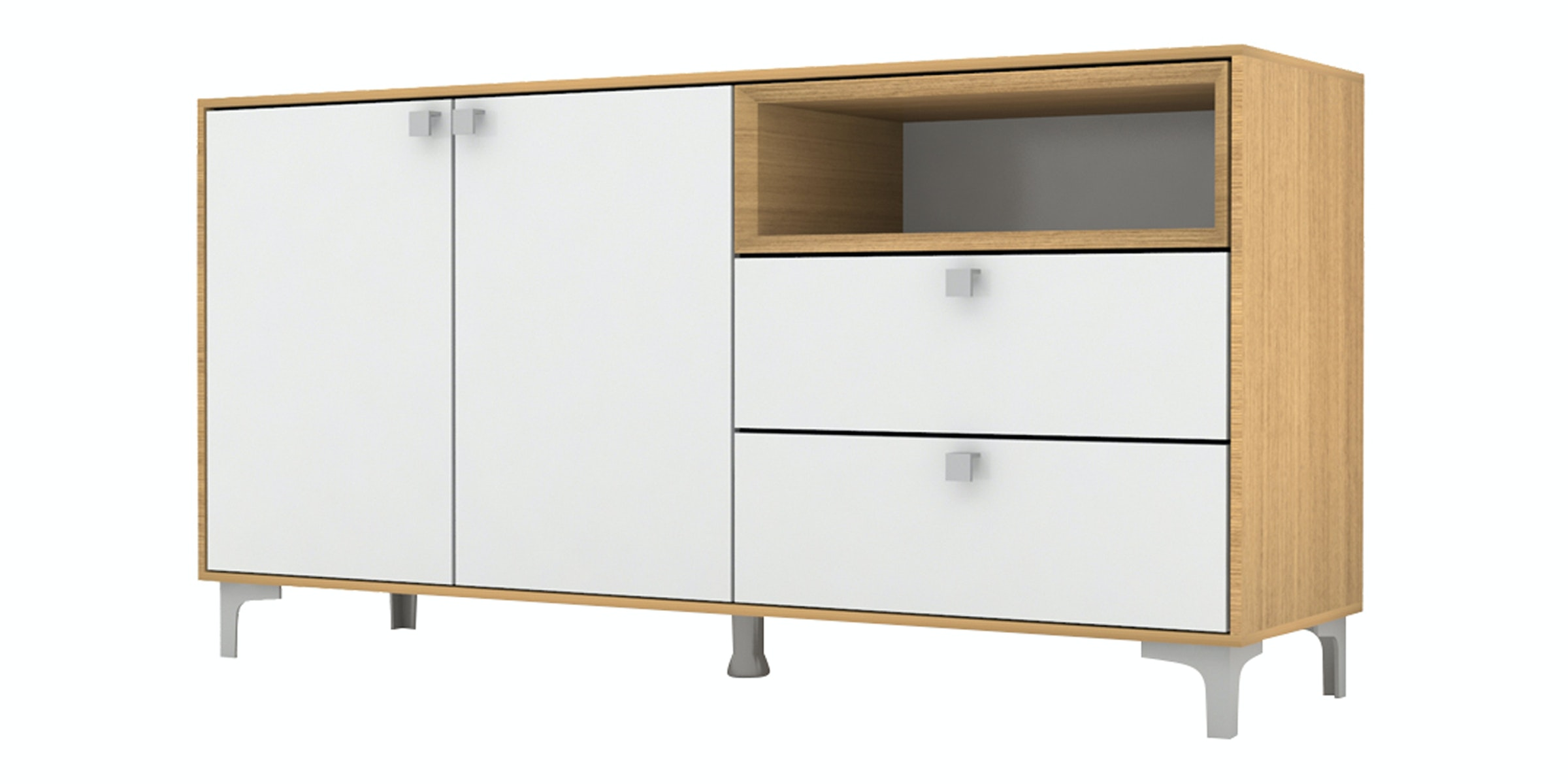 Case Furniture Cabinet Set PCI008-03-00 Desert Oak - White