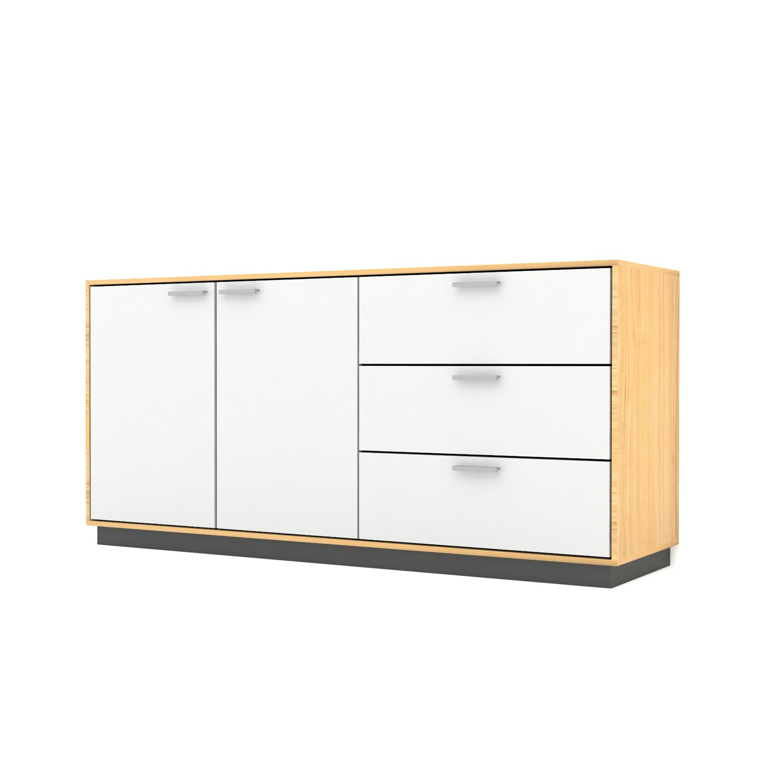 Case Furniture Cabinet Set PCI008-04-00 Desert Oak - White