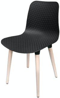 Highpoint Delano - Rose Commercial Chair - Ebony