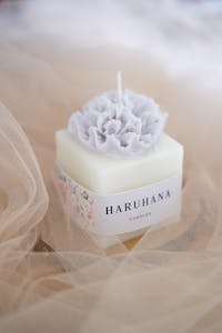 Haruhana Carnation Pillar candle cherry scented