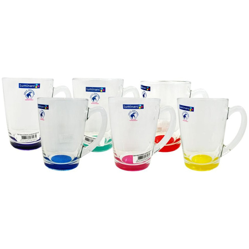 Luminarc New Morning Mug 32 Rainbow - 6 pcs