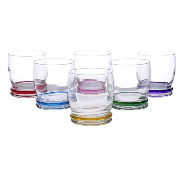 Luminarc Cortina Tumbler Gelas Minum 310ml Rainbow - 6 pcs