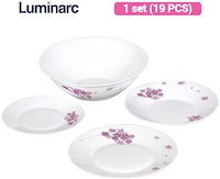 Luminarc Dinner Set Essence 19 pcs Pink Blossom
