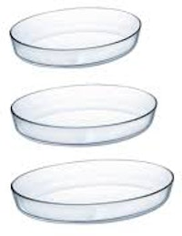 Luminarc Serveware Oval Set 1 Pc 35x27 + 1 Pc 30x20 + 1 Pc 26x20