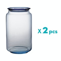 Luminarc Rondo Jar Ice Blue 1 Liter - 2 pcs