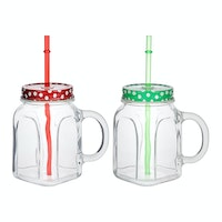 Pasabahce Homemade Juice Mug W/Lid 450ml